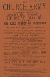 Advert for the Church Army